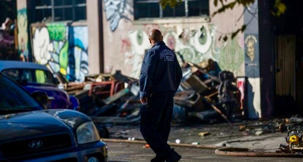 Search completed at Oakland warehouse in fire that killed 36