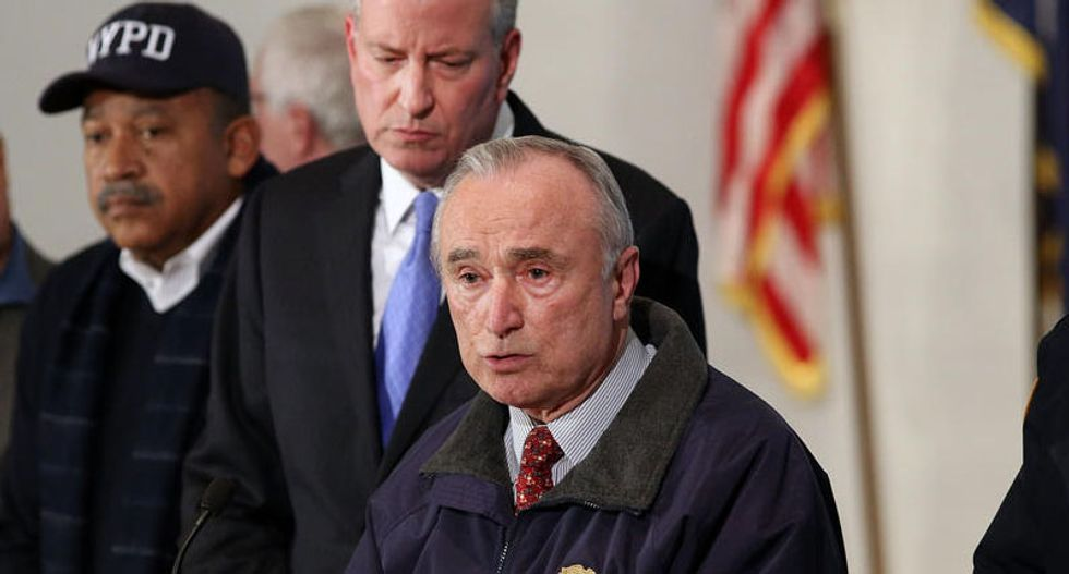 NYPD chief stands by mayor Bill de Blasio but acknowledges police anger