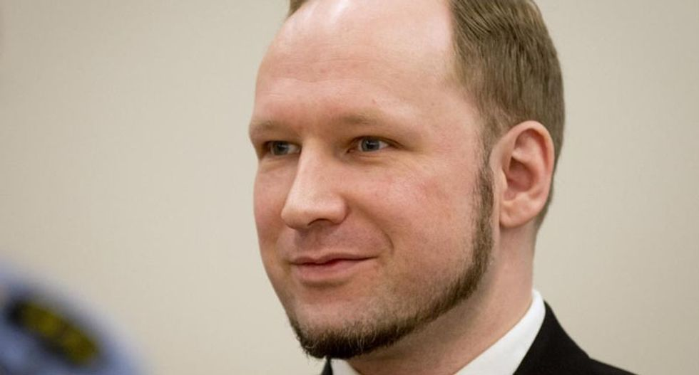 Muslim-hating mass murderer Anders Breivik trying to 'set up network' outside prison, authorities claim