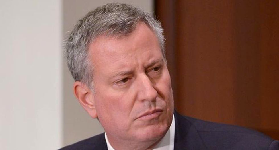 New York City mayor Bill de Blasio calls for protests against police brutality to end