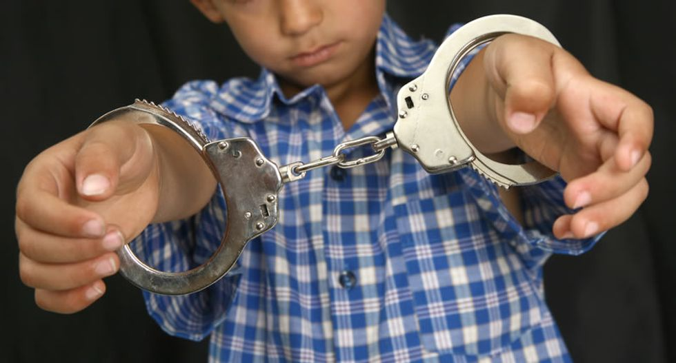 New York state police handcuff and shackle 'combative' five-year-old