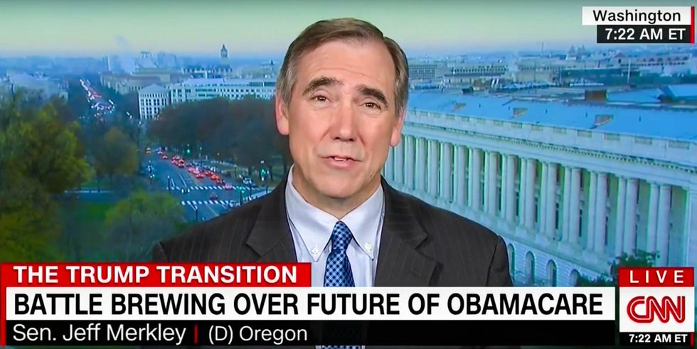WATCH: Democratic senator mocks 'terrified' GOP as too chicken to actually repeal Obamacare