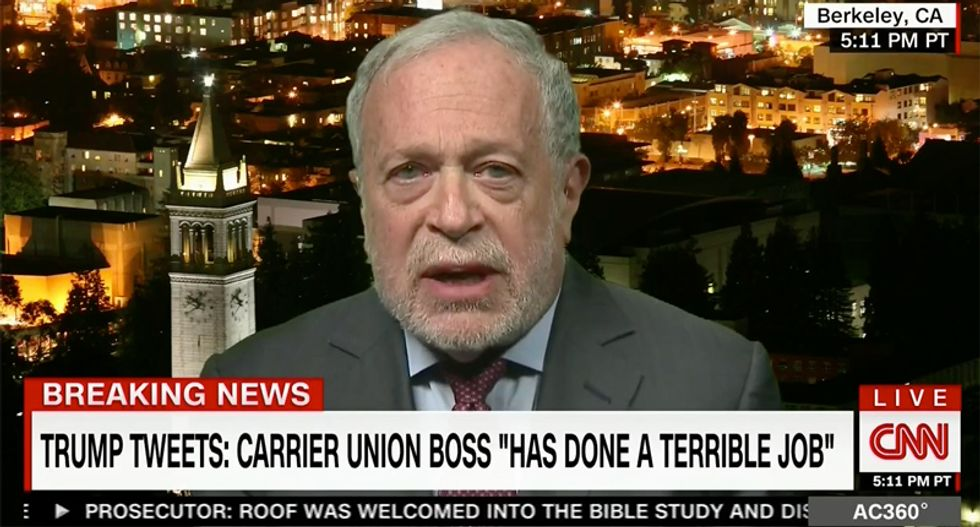 Robert Reich just brutally smacked down 'petty and thin-skinned' Trump for attacking union head on Twitter