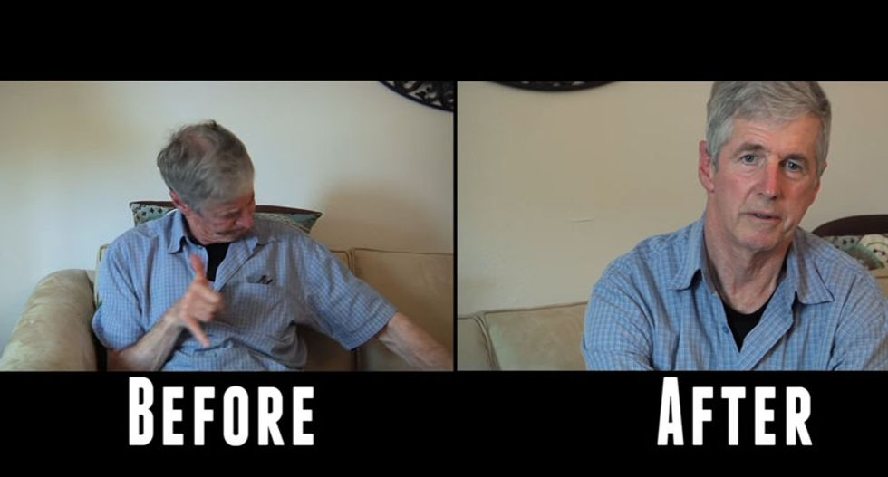 WATCH: Man with Parkinson's uses marijuana for the first time -- and the results are amazing