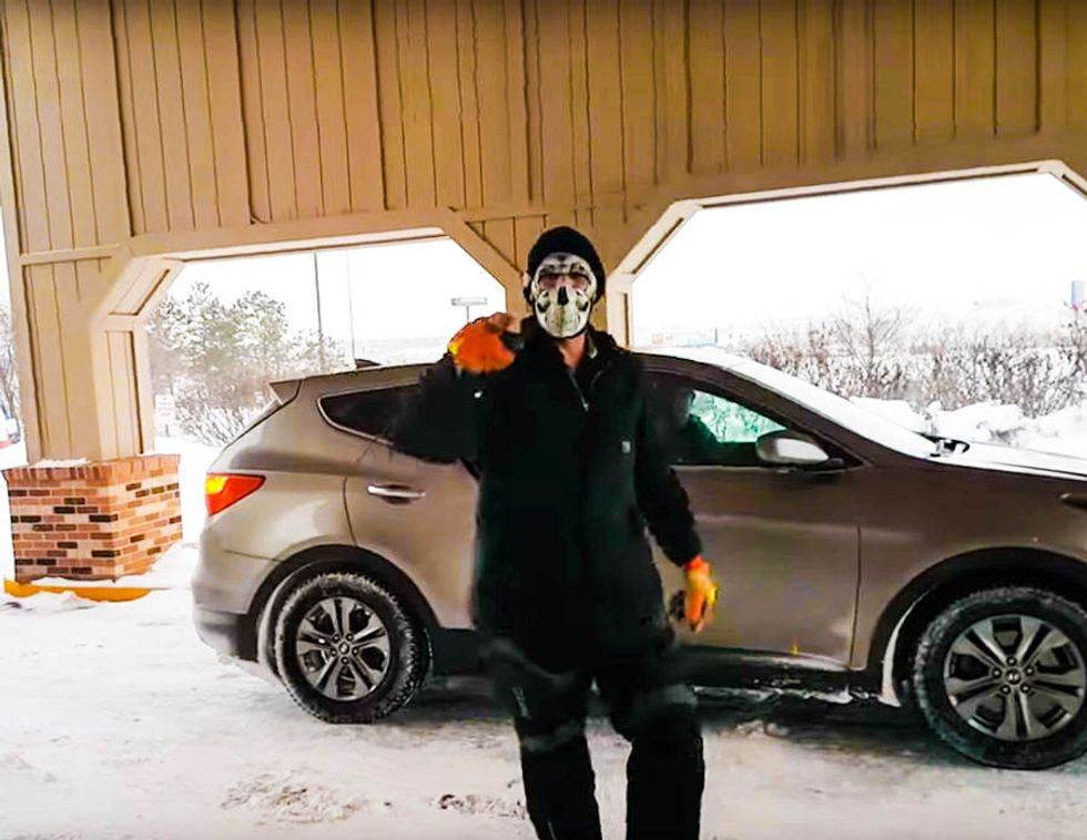 BUSTED: Cops arrest masked man who was caught on video threatening DAPL protesters