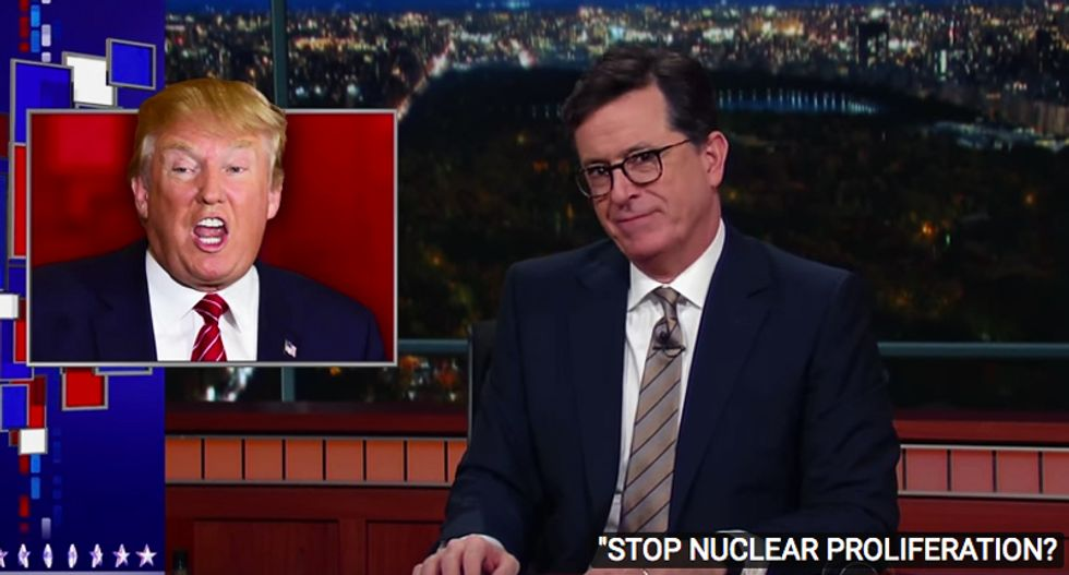 Colbert rips Trump for ducking intel briefings: 'He treats them like I treat Pottery Barn emails – unsubscribe'