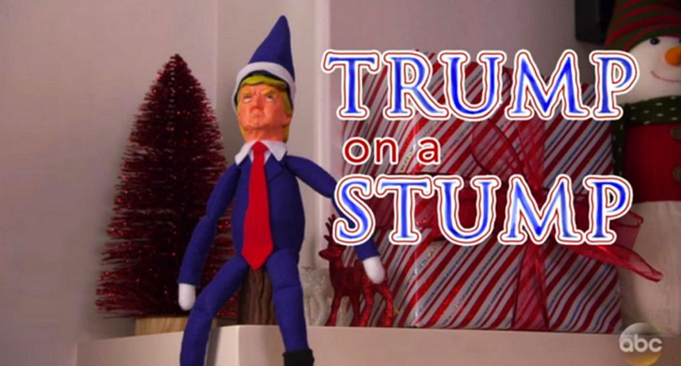 Jimmy Kimmel introduces 'Trump on a Stump' -- to keep an eye on your kids and deport them if they're naughty
