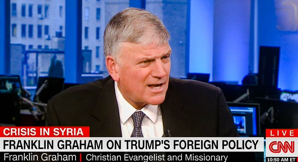 Franklin Graham: Pray for Trump to succeed because there's no 'pride' in computer programming