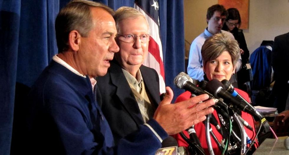 Sweet talk at US Republican retreat, but divisions persist