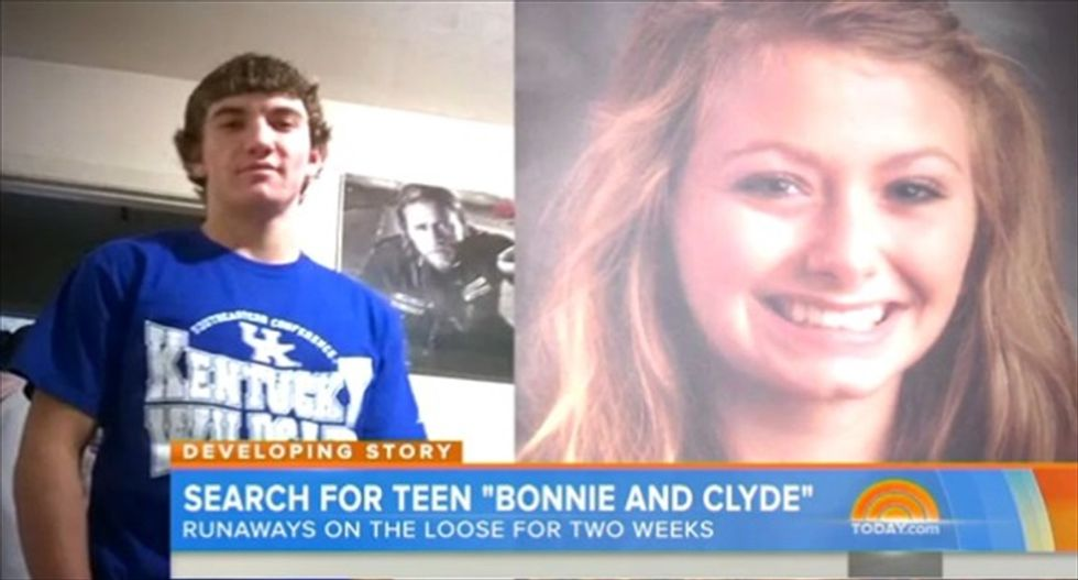 Teenage 'Bonnie and Clyde' couple suspected of multi-state crime spree captured in Florida