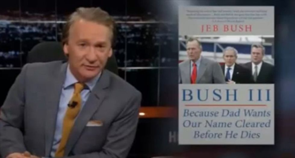 Bill Maher parodies GOP presidential hopefuls' books: 'Me Want Banana, Me Climb There'