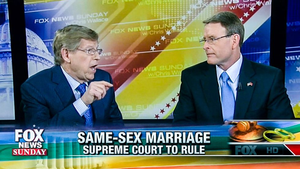 Watch lawyer destroy Tony Perkins on Fox after he says gay marriage leads to girls marrying dads
