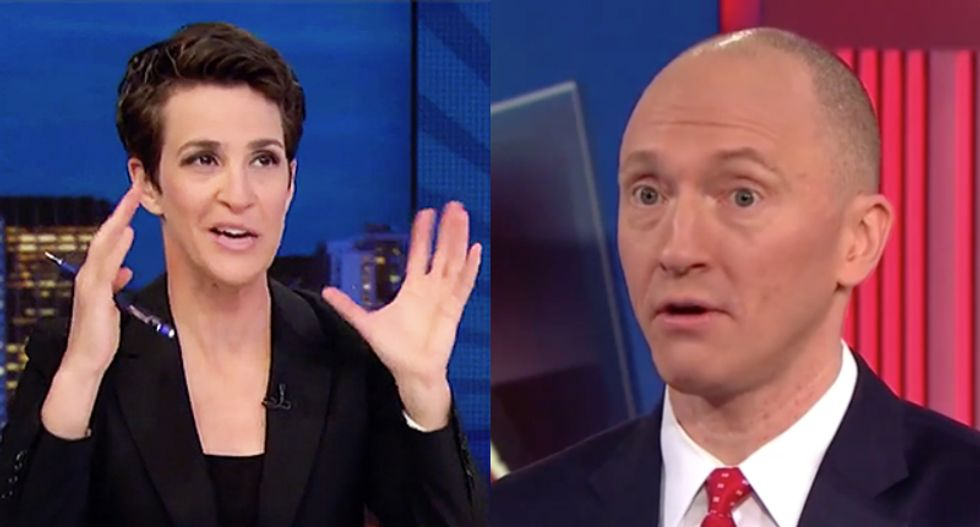 Maddow: Carter Page knew about Nunes memo 'months in advance' during 'nutty' MSNBC interview last year