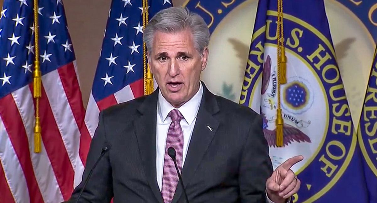 Kevin McCarthy continues to promote a delusional fantasy with his laughable defense of the GOP