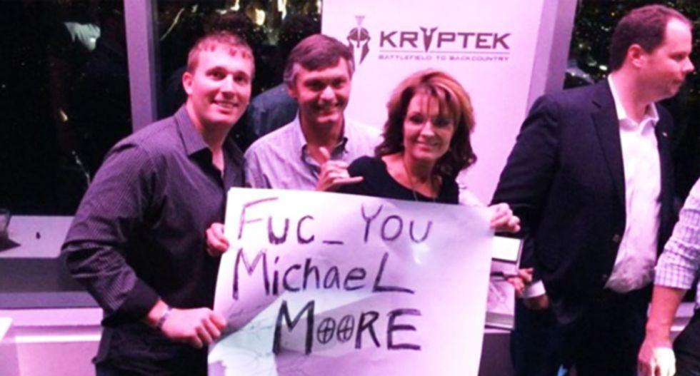 Shocking: Bristol Palin uses 'succinct' correctly. Not shocking: Sarah Palin holds up 'fuc_' sign