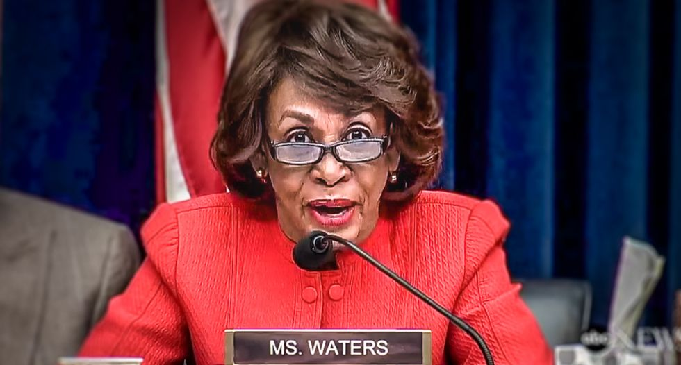 Watch Maxine Waters expertly silence GOP lawmaker's defense of Trump