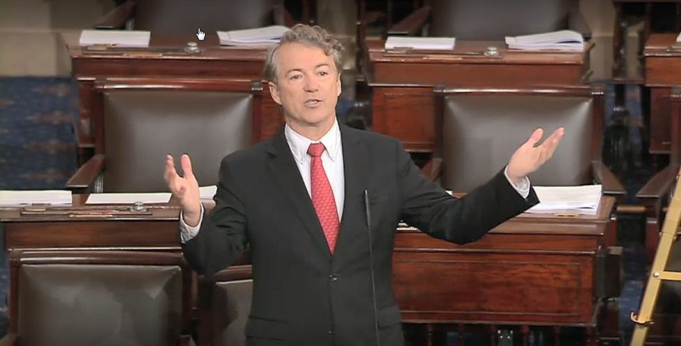 WATCH LIVE: Republican Rand Paul trashes his own 'complicit' party over trillion dollar deficit spending