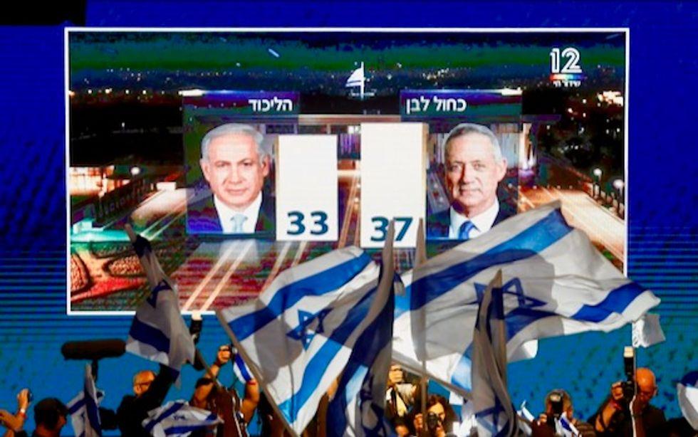 Netanyahu, Gantz both claim victory in close Israeli elections