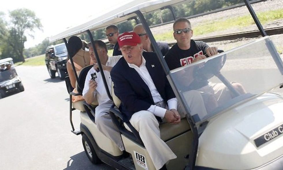 Secret Service places $45,000 'emergency order' for golf carts in town with Trump property during pandemic