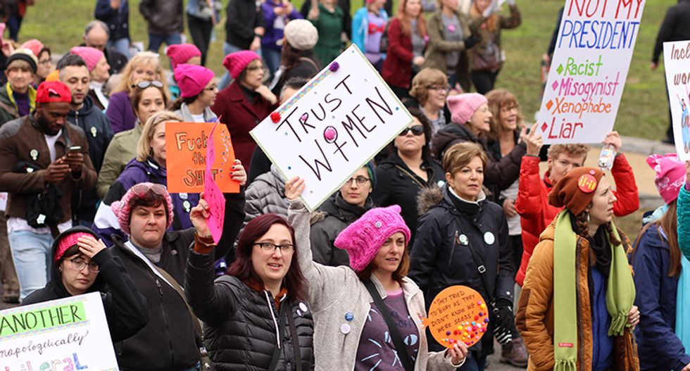 In third year, US women's marches turn to 2020 elections