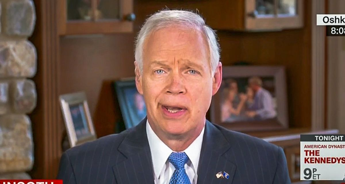 GOP's Ron Johnson responds to good news on vaccines with unhinged rant about hydroxychloroquine