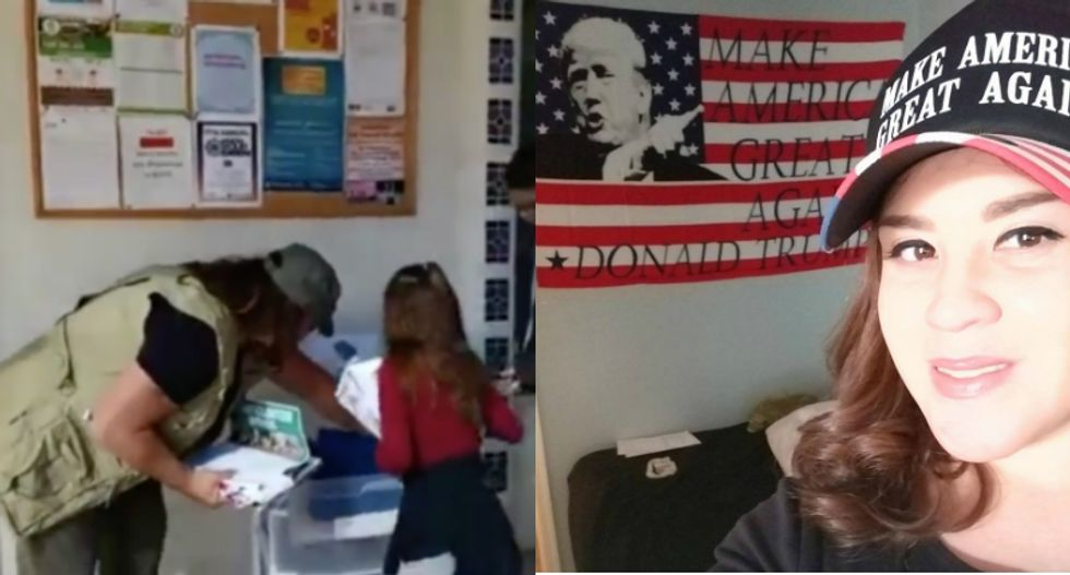 WATCH: Trump-loving moms mock Muslims inside a mosque to teach their children how to be 'patriots'