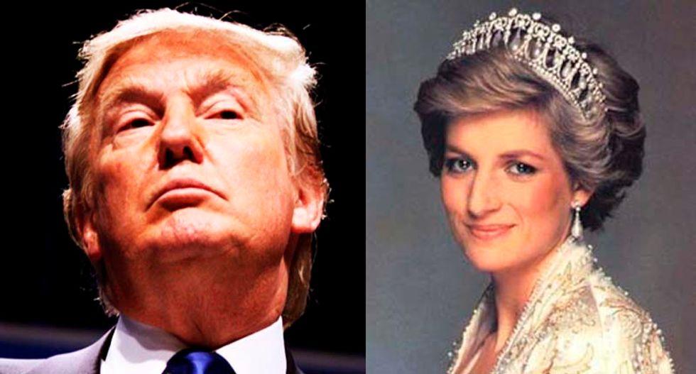 Royal family to meet Trump amid his disgusting, creepy lie about Princess Diana