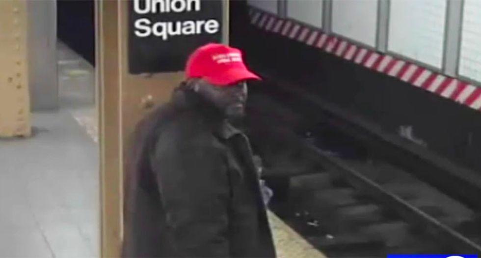 NYC police seeking man in 'MAGA' hat who assaulted Hispanic subway passenger before shoving him onto tracks