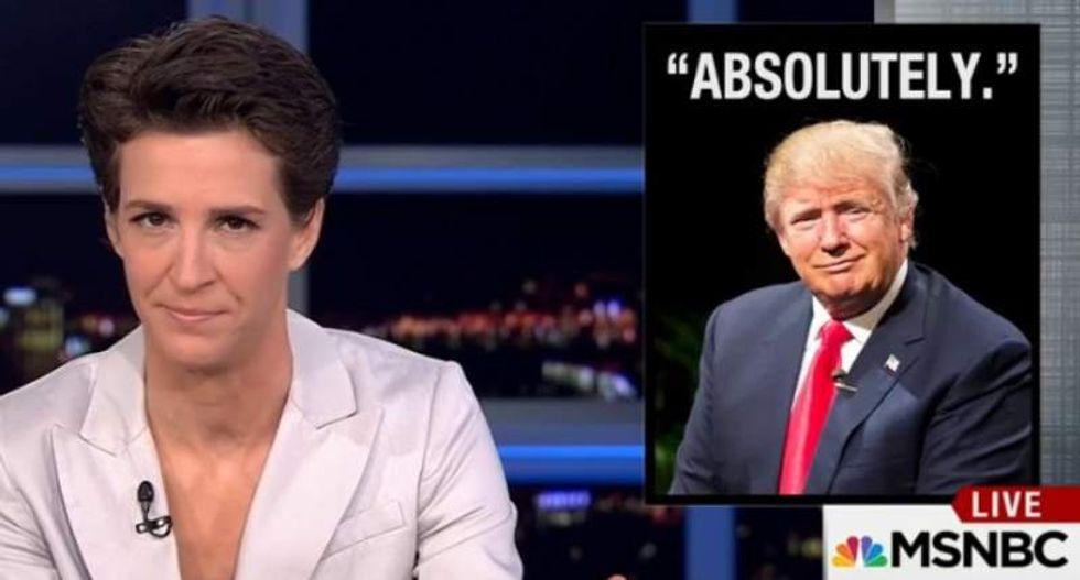 Rachel Maddow slams Trump for blaming Muslim database backlash on the media