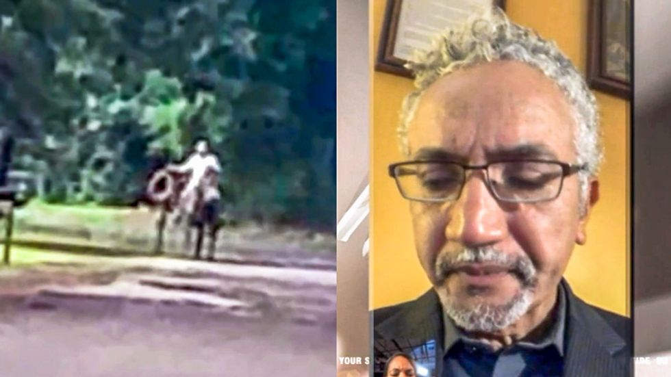 WATCH: Black father breaks down in tears after white man on horseback warns 'these are Texas roads'
