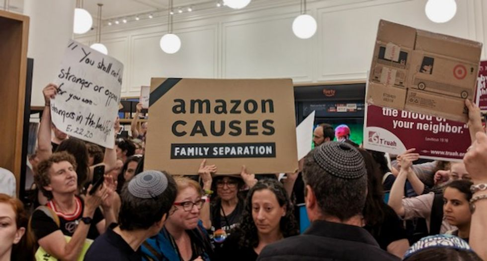 'We will fight': Over 40 arrested as Jewish activists and allies confront Amazon for profiting off ICE terror