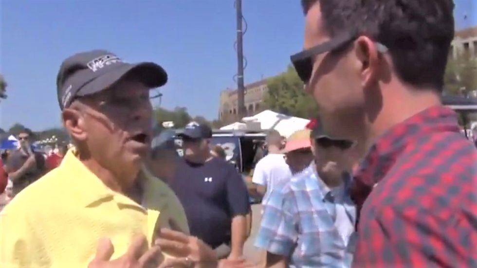 WATCH: Trump voter tells reporter he's not racist because 'I shared my yard with a colored guy'