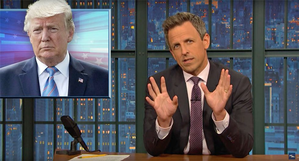 Seth Meyers digs deep into Trump's 'paranoid fantasies' and 'deranged' conspiracy theories