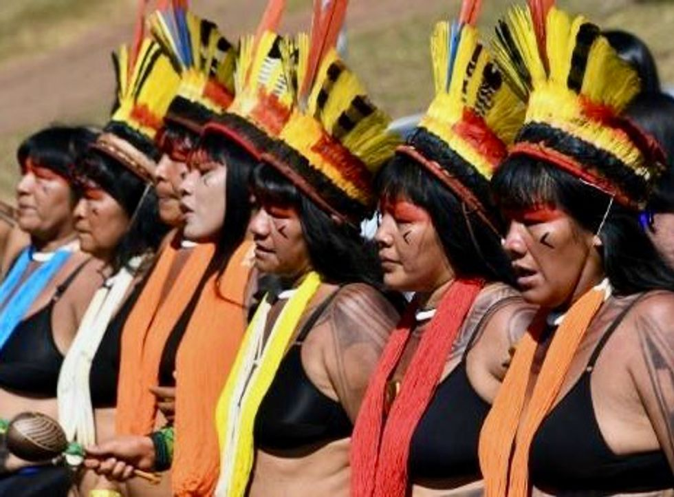 Brazil tribal women protest Bolsonaro's 'genocidal policies'