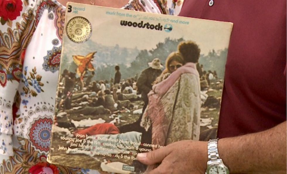 Fifty years after Woodstock, its poster children wax nostalgic for the era of 'peace and love'