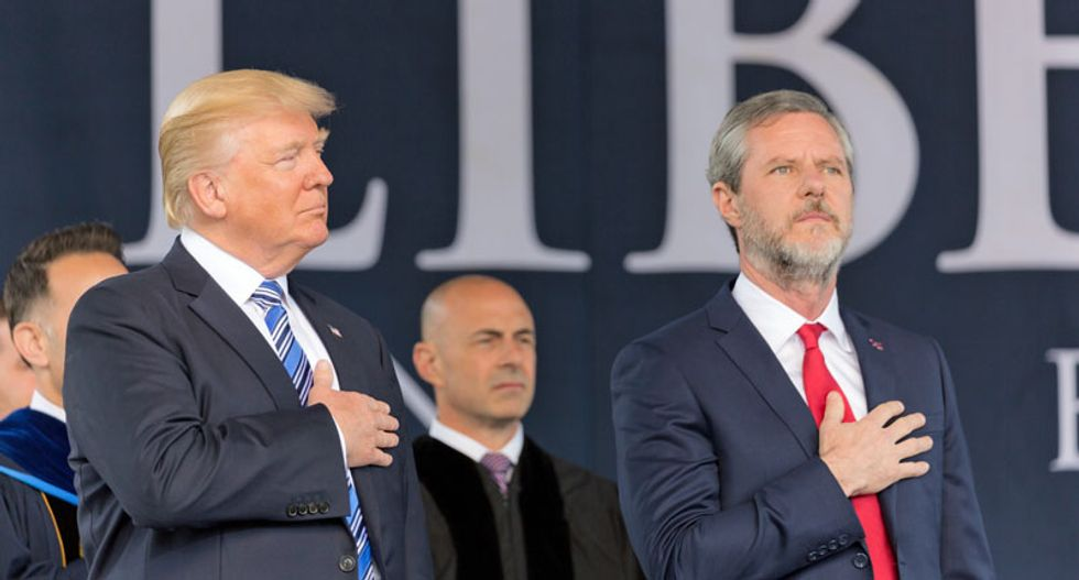 Jerry Falwell Jr's university has sold more than $1 million in jet fuel to the Pentagon since Trump's inauguration