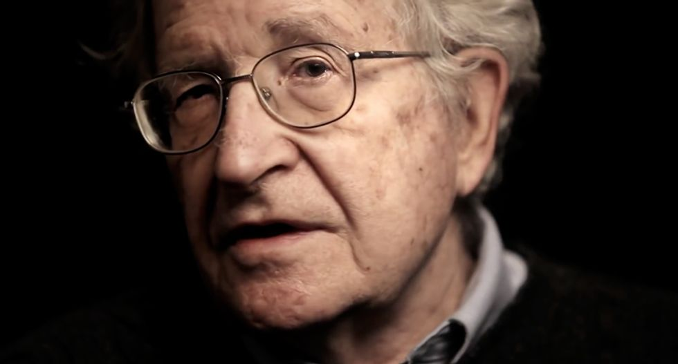 Noam Chomsky explains how 'criminally insane' Republicans quietly filed 'the most evil document in history'