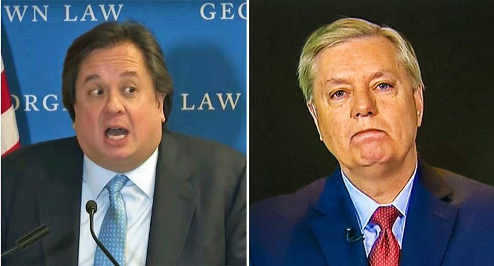 George Conway launches epic tweetstorm obliterating Lindsey Graham's 'pure garbage' defense of Trump