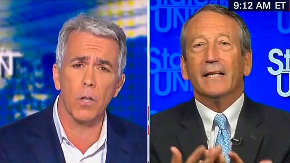 'Donald Trump is a traitor': Joe Walsh blows up on Mark Sanford on live TV for not supporting impeachment