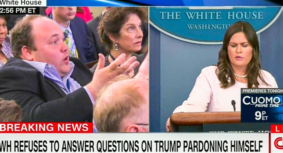 'How can we believe what you're saying?' Reporter steamrolls Sarah Sanders for lying about Trump Tower meeting