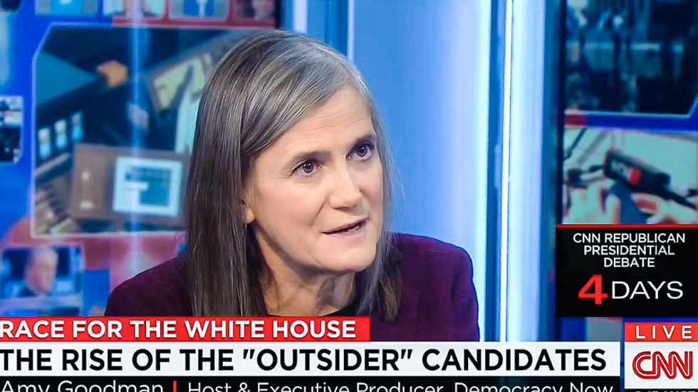 Amy Goodman scorches CNN for an 'obsession with polls': 'Are we telling people what to think?'
