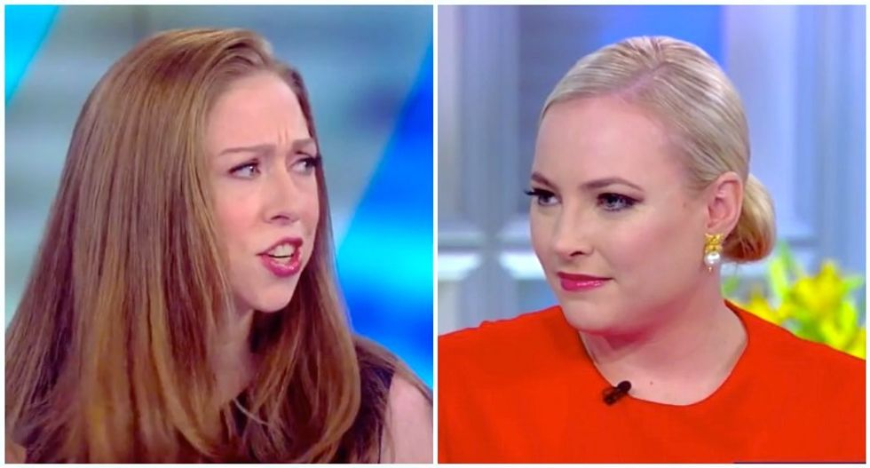 Chelsea Clinton accidentally scorches Meghan McCain while dismissing congressional rumors on The View