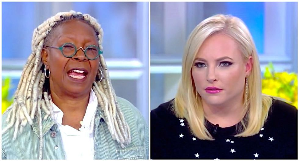 The View's Whoopi Goldberg and Meghan McCain wallop Trump's 'sexist' outburst at Pelosi: 'Grow a pair, man!'