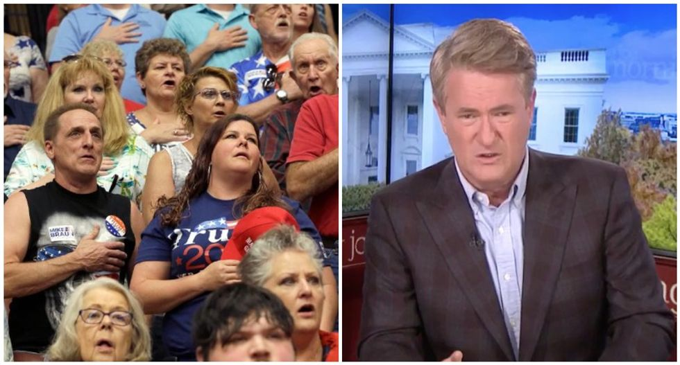 'They have a responsibility to not be stupid': MSNBC's Morning Joe slaps Trump's 'ignorant' rally-goers for swallowing Trump lies