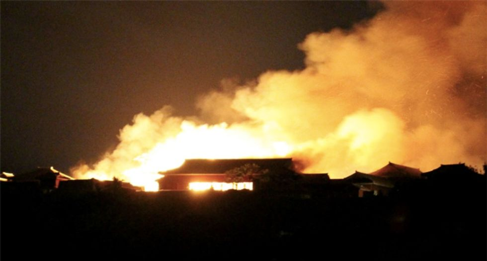 Huge fire engulfs World Heritage castle in Japan's Okinawa