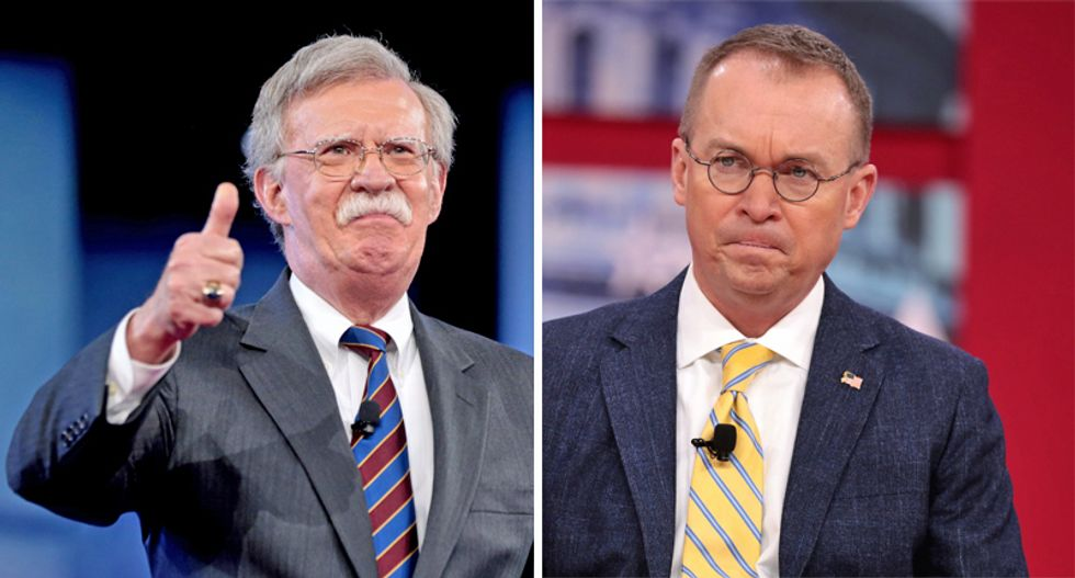 John Bolton lawyer tells judge his interests do not align with WH chief of staff Mick Mulvaney