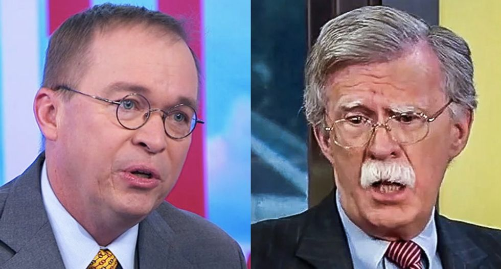 John Bolton flabbergasted Mulvaney wants to join his lawsuit -- because he was part of Trump's Ukraine scandal