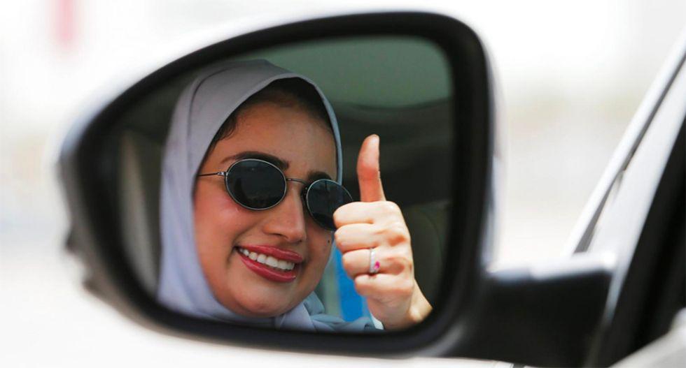 Saudi women celebrate end of driving ban