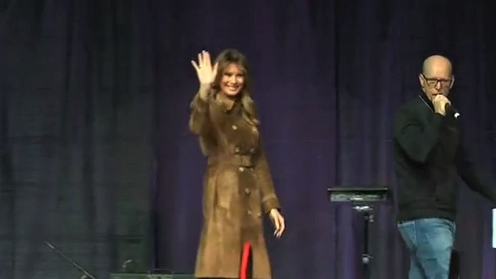 WATCH: Melania Trump gets loudly booed at opioid event in Baltimore