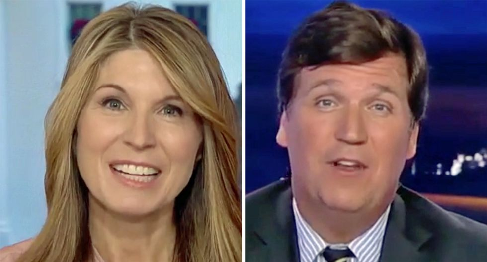 Watch MSNBC's Nicolle Wallace dunk on Tucker Carlson for the Fox News host 'rooting' for Russia